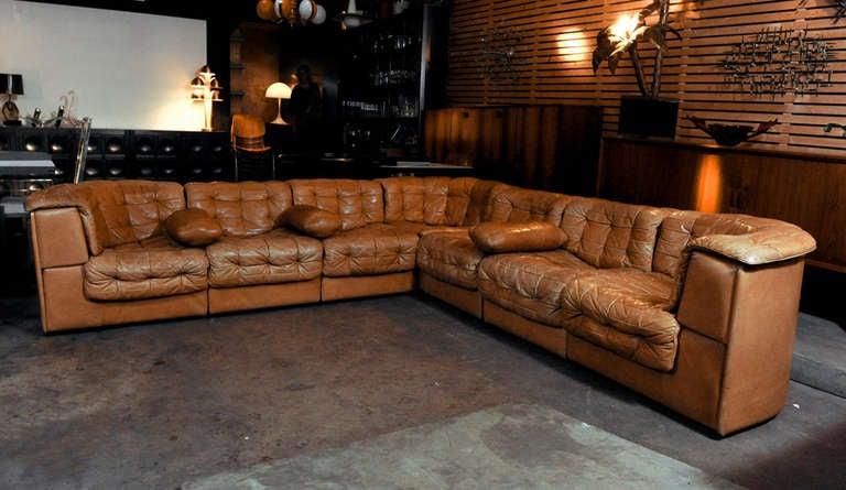Large De Sede Ds 11 Modular Patchwork Sofa At 1stdibs