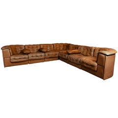 Large De Sede ds-11 Modular Patchwork Sofa