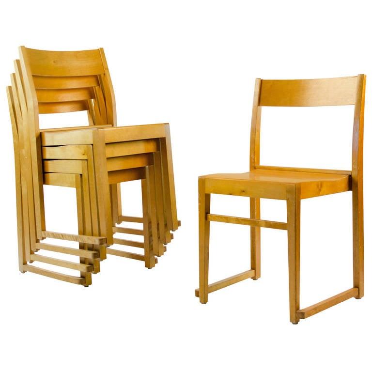 14 Sven Markelius Stacking Chairs, Bodafors, 1932, Sweden