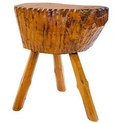 Small Decorative Occasional Side Table, Woodcarving