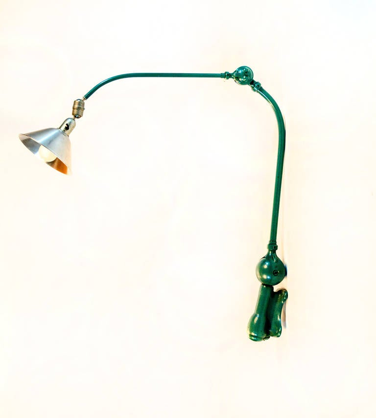 Swedish Rare industrial triplex wall lamp. Johan Petter Johansson. For Sale
