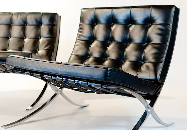 vintage knoll barcelona chair by mies van der rohe for sale at 1stdibs