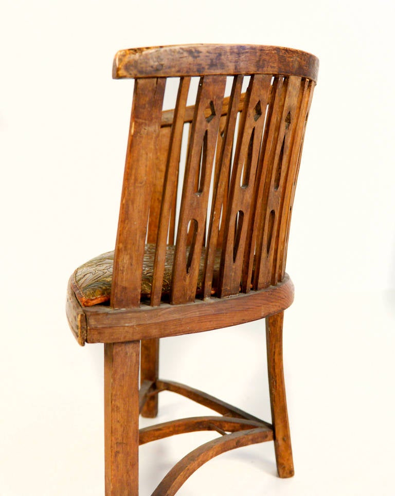Very cool decorative swedish chair from around 1800 at 1stdibs