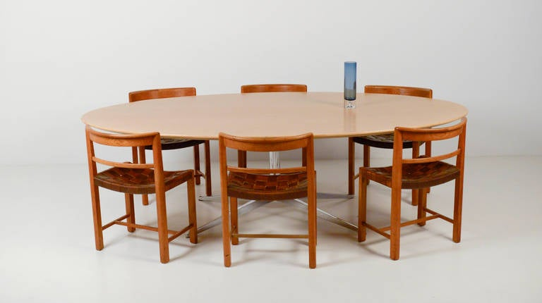 knoll dining table in oak for knoll international for sale at 1stdibs