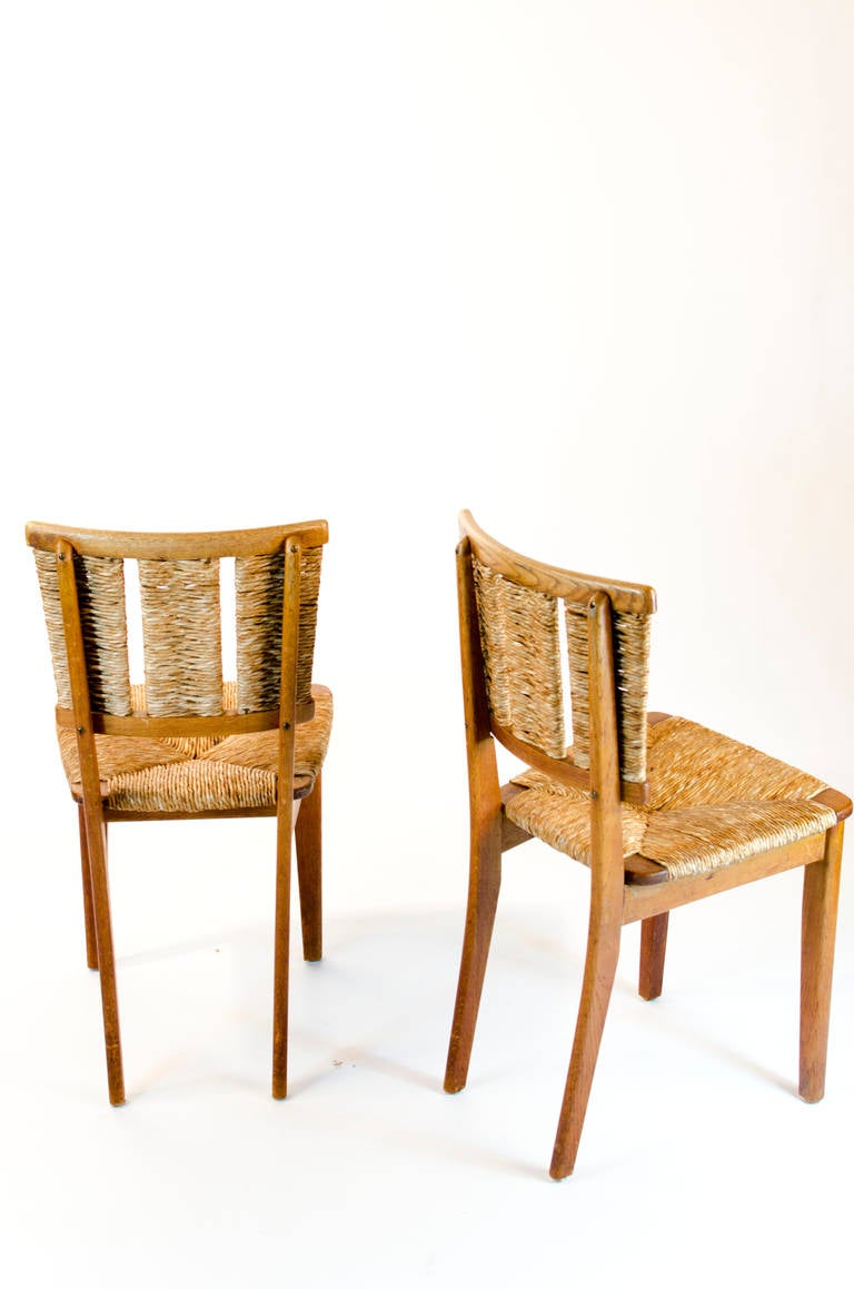 6 very rare mart stam chairs in oak 1947 at 1stdibs. Black Bedroom Furniture Sets. Home Design Ideas