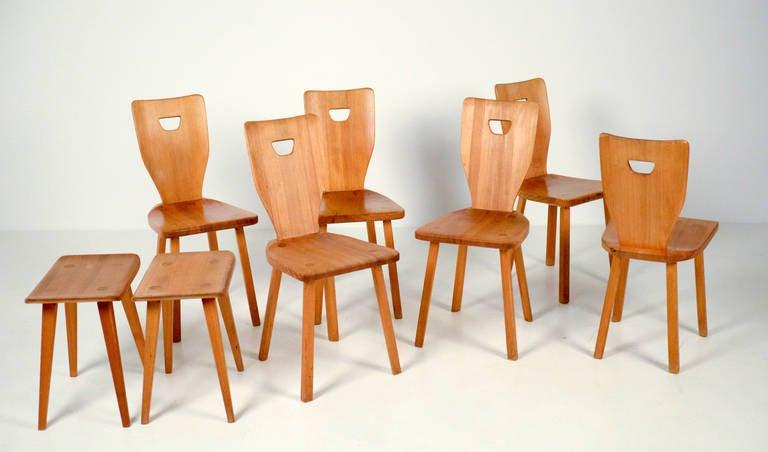 Carl Malmsten Sorgarden Set In Solid Pine For Sale At 1stdibs