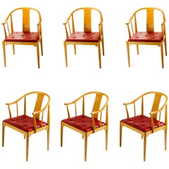 Six Nice China Chairs, Designed by Hans Wegner for Fritz Hansen