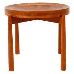 Small Danish (Fruit) Round Table by Jens Quistgaard for Nissen, Denmark