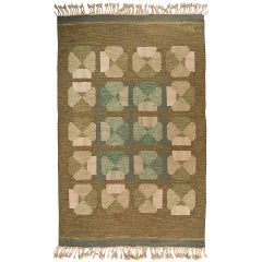Rare & Beautiful Finnish Carpet by Alestalon Mattokutomo