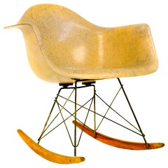Extreme Rare Rope Edge Eames Rocker, 1st Experimental Base.