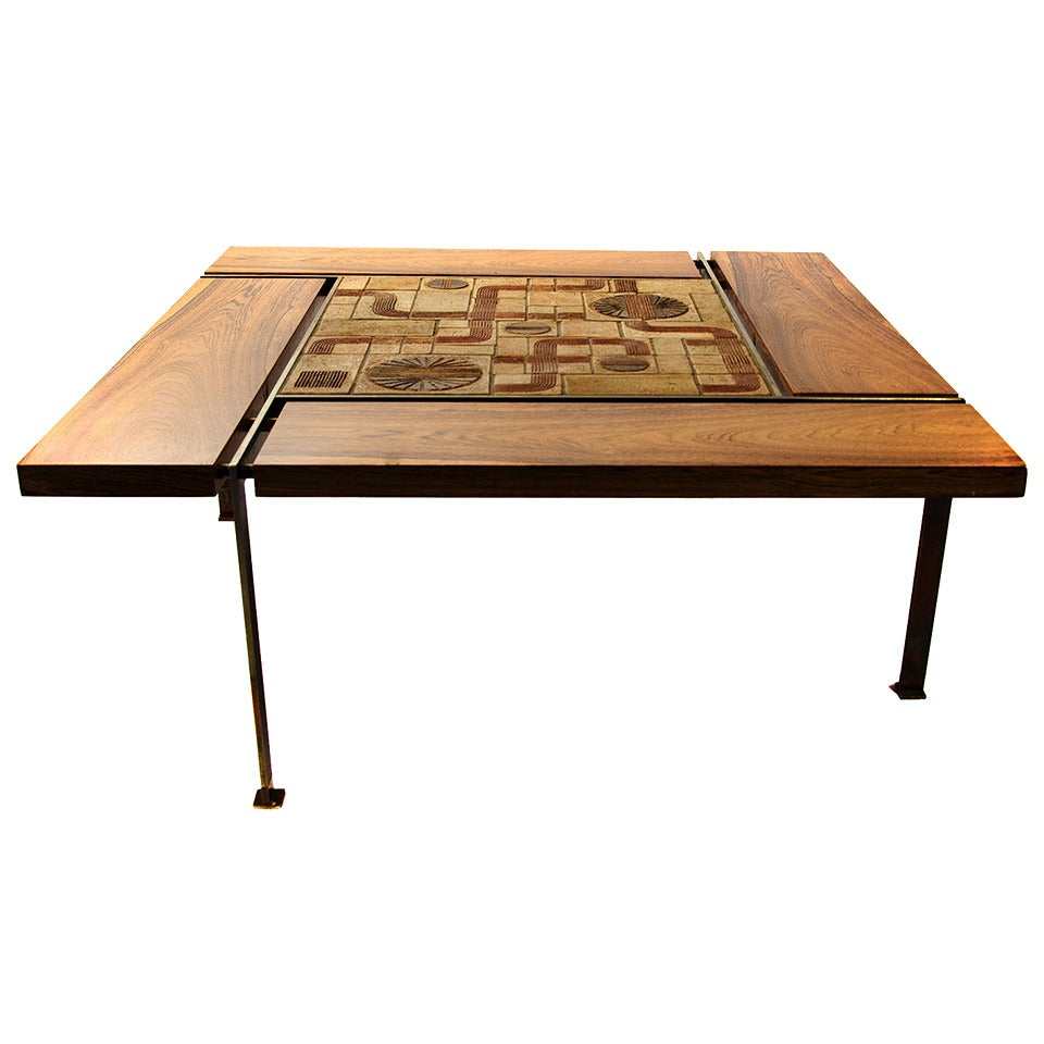 Rare And Big Unusual Coffee Table Svend Aage Jessen Sejer Pottery For Sale At 1stdibs