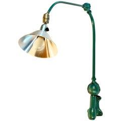 Rare industrial triplex wall lamp. Johan Petter Johansson.