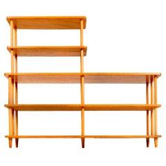 Rare Flamboyant Wooden Bookshelf.