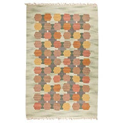 Beautiful Big Swedish Handwoven Carpet by Judith Johansson