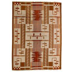 Rare & Unique Big Swedish Carpet, Art Deco