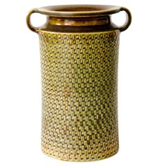Stoneware Ceramic Vase By Stig Lindberg For Gustavsberg Studio, Sweden.