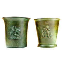 2 bronze Swedish Ystad vases about 1930