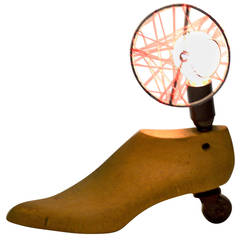 Strange foot table lamp, only one made off !