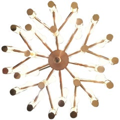 Exceptional Sculptural Chandelier by Angelo Brotto for Esperia, Italy