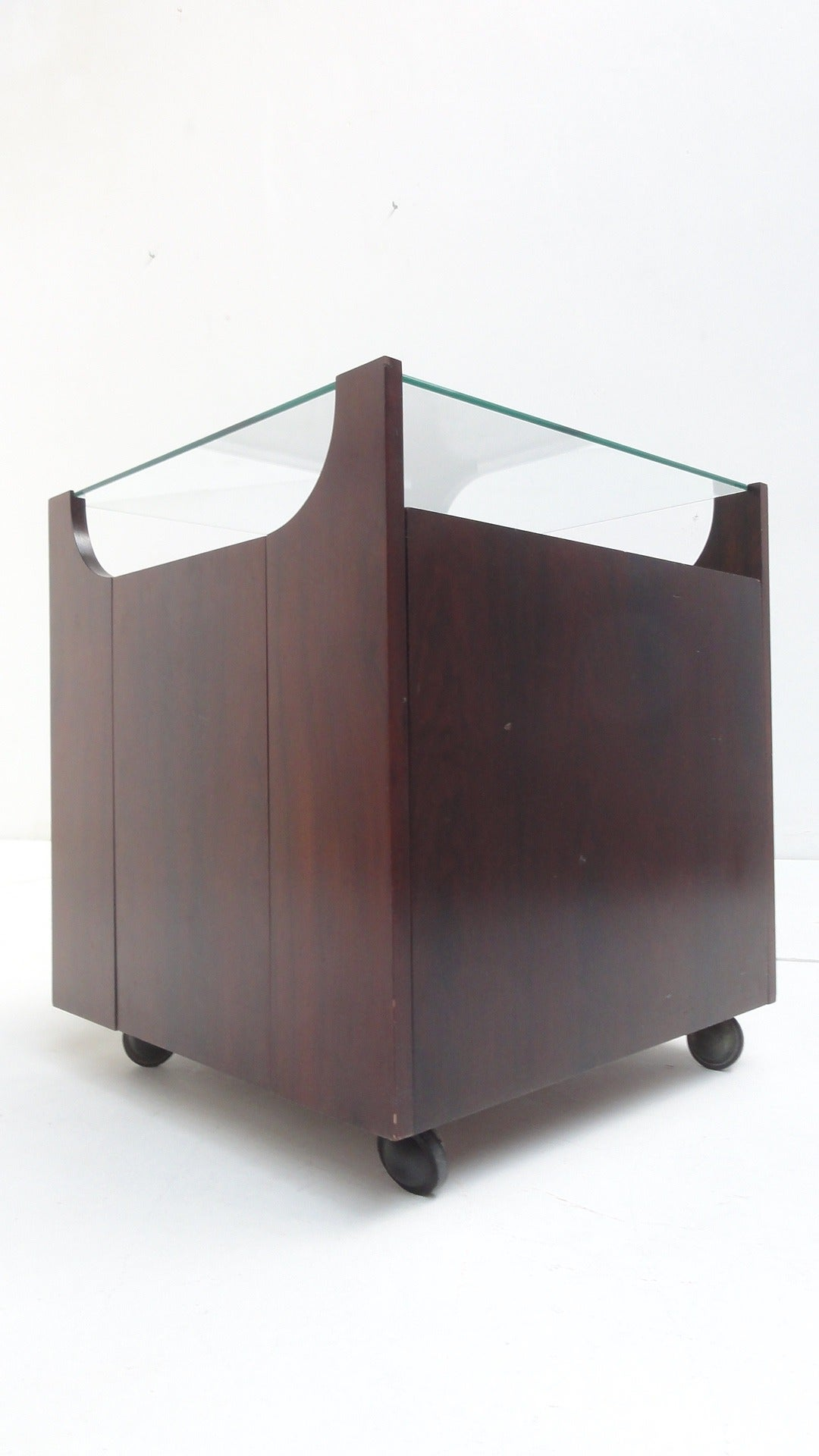 Stunning Bar by Bruno Munari, Rare Early Mahogany Edition 1962, Stildomus, Italy In Good Condition For Sale In bergen op zoom, NL