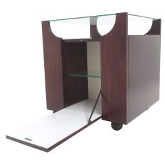 Stunning Bar by Bruno Munari, Rare Early Mahogany Edition,1962, Stildomus, Italy