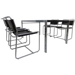 Bataille & Ibens dining set, 4 SE18 chairs with TE21 table 1971-74