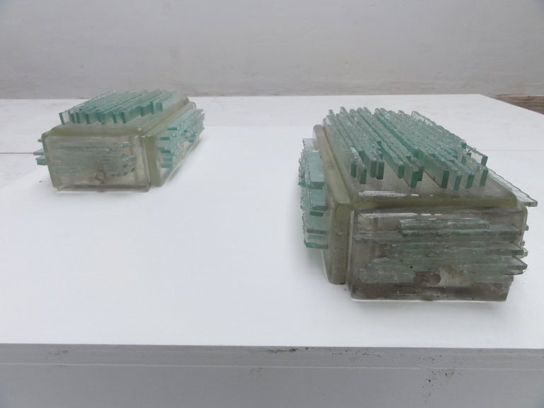 Brutalist Form Crystal Appliques Designed By Poliarte, Verona For Hotel For Sale 3