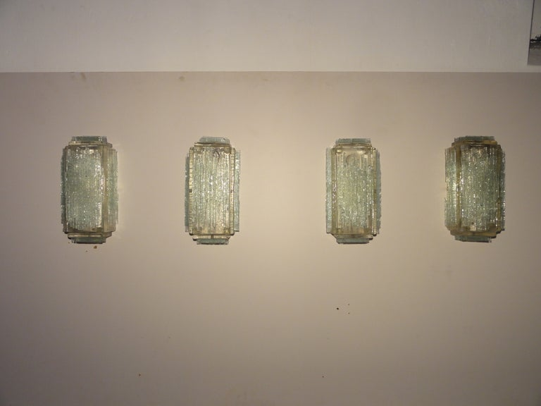 Brutalist Form Crystal Appliques Designed By Poliarte, Verona For Hotel For Sale 2