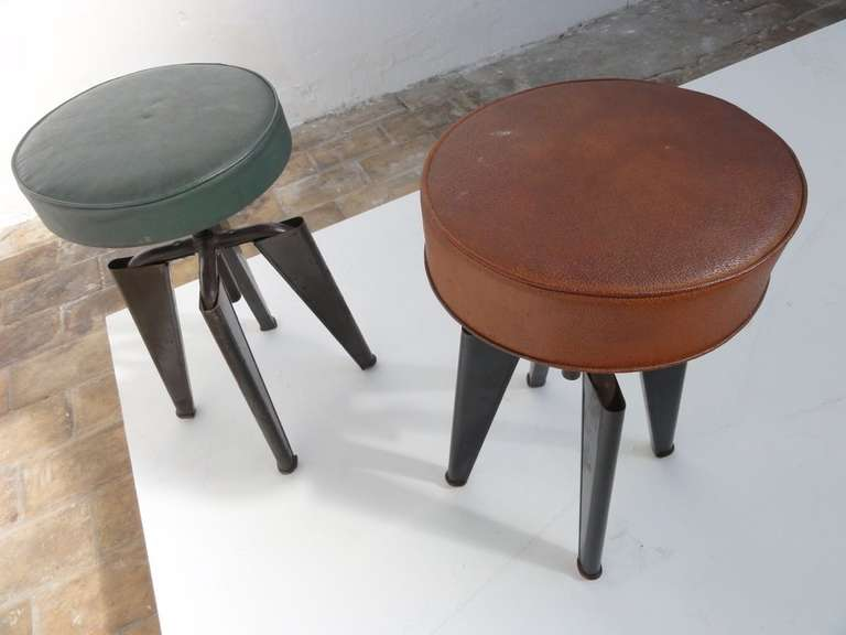 Super Rare Adjustable Height Clemenceau Stools By