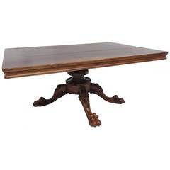 Beautiful antique carved Chimera feet swivelling top coffee table