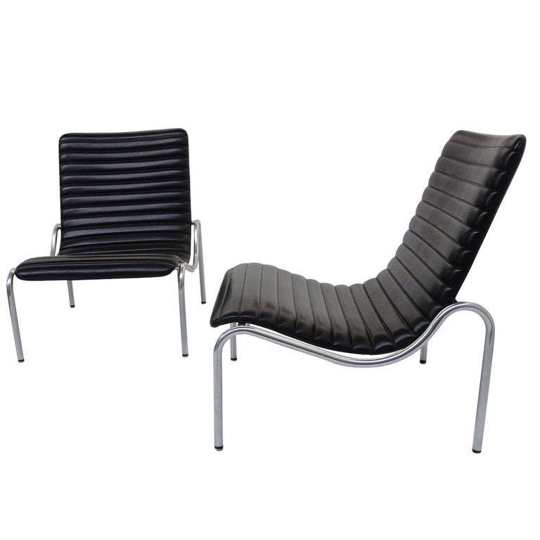 Stunning Pair Kho Liang Ie Model 703 Lounge Chairs For Stabin, Netherlands 1968 For Sale