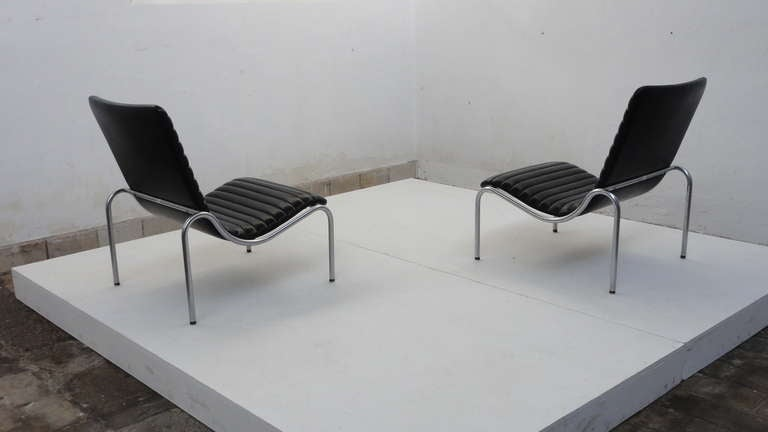 Plated Stunning Pair Kho Liang Ie Model 703 Lounge Chairs For Stabin, Netherlands 1968 For Sale