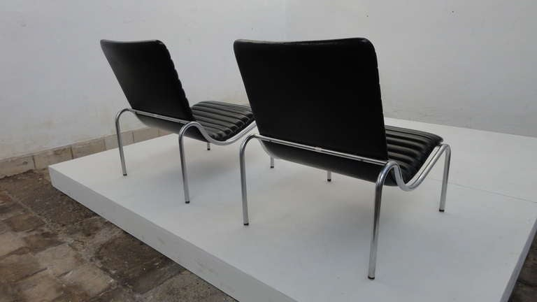 Stunning Pair Kho Liang Ie Model 703 Lounge Chairs For Stabin, Netherlands 1968 In Good Condition For Sale In bergen op zoom, NL