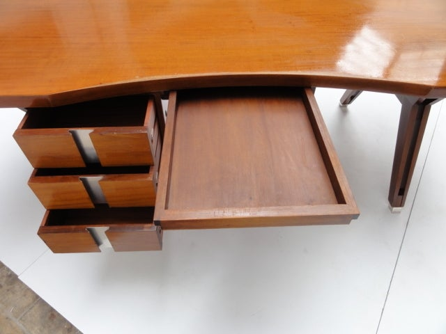 Italian Ico Parisi ''Terni'' Executive Desk, 1958, Published MIM Roma, Italy For Sale