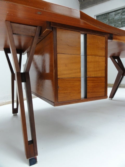 Ico Parisi ''Terni'' Executive Desk, 1958, Published MIM Roma, Italy In Good Condition For Sale In bergen op zoom, NL