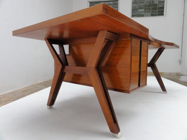 Mid-20th Century Ico Parisi ''Terni'' Executive Desk, 1958, Published MIM Roma, Italy For Sale