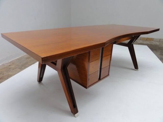 Ico Parisi ''Terni'' Executive Desk, 1958, Published MIM Roma, Italy For Sale 1