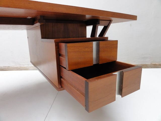 Ico Parisi ''Terni'' Executive Desk, 1958, Published MIM Roma, Italy For Sale 2