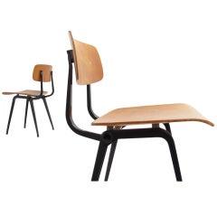 Rare plywood Friso Kramer ''Revolt'' chair Ahrend De Cirkel The Netherlands