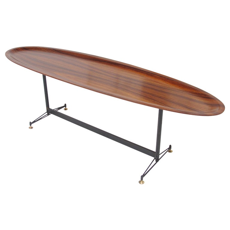 collection coffee table wire legs pictures wire diagram images spectacular rosewood surfboard table 1950 s at 1stdibs spectacular rosewood surfboard table 1950 s at 1stdibs