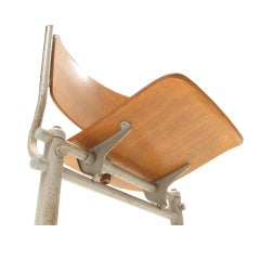 Extreme rare 1949 military chair by Friso Kramer for De Cirkel, The Netherlands