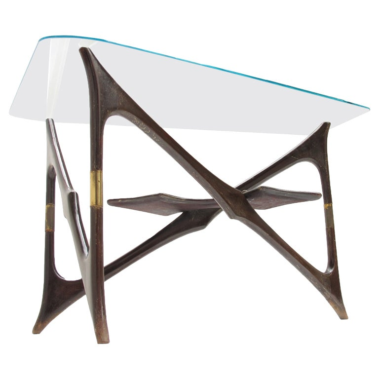 Superb biomorphic form italian 50 39 s design coffee table at for Table form design