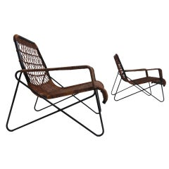 "Important Raoul Guys ""Antony"" lounge chairs,Cite university, Paris, 1954"