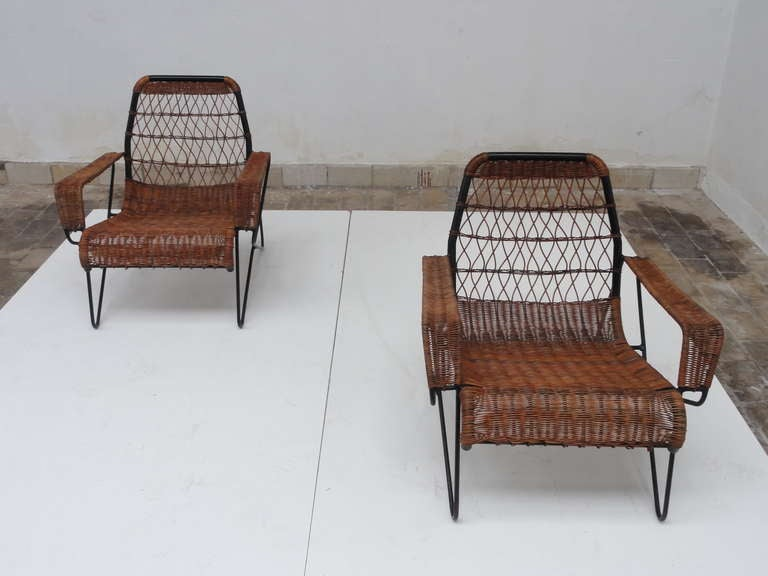 "Important Raoul Guys ""Antony"" lounge chairs Cite university Paris"