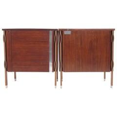 Beautiful Rosewood Ico Parisi 'Taormina' Companion, Credenza Cabinets, 1958