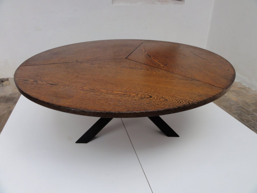 massive hans bellman style round wenge wood dining table at stdibs. massive hans bellman style round wenge wood dining table