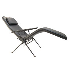 Mauser 1950's adjustable reclining chaise longue, Germany