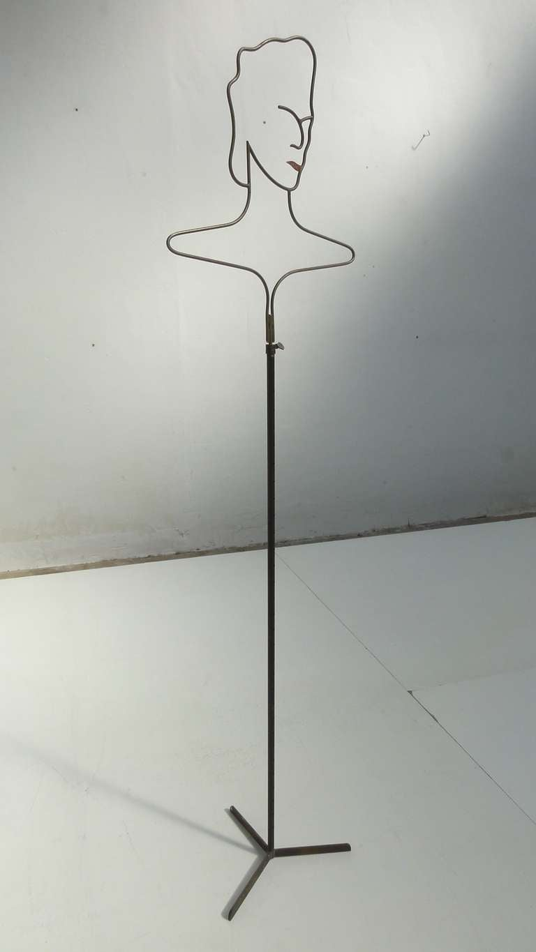 French 50\'s Adjustable Metal and Brass Wire Mannequin For Sale at ...