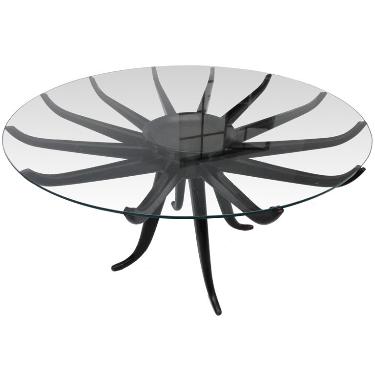 In the style of Carlo de Carli ''spider'' coffeetable Italy 1950's