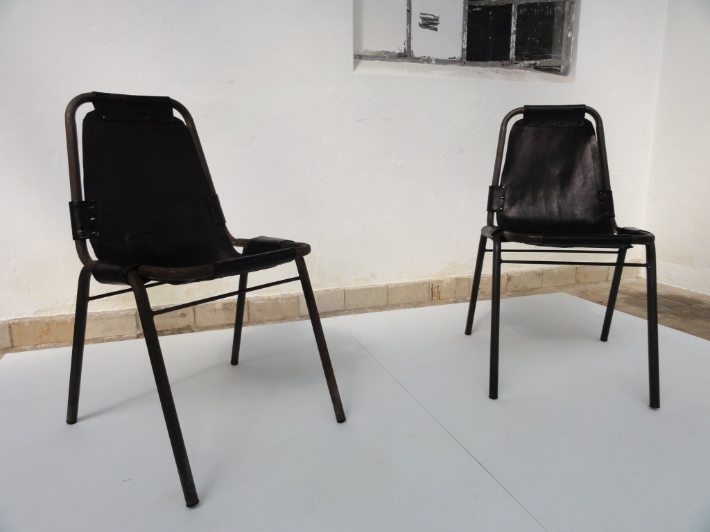 2 prototype chairs charlotte perriand for les arcs france at 1stdibs. Black Bedroom Furniture Sets. Home Design Ideas